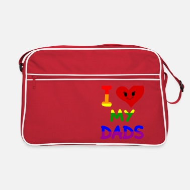 Offence I love my dads daddies fathers family pride gay - Retro Bag