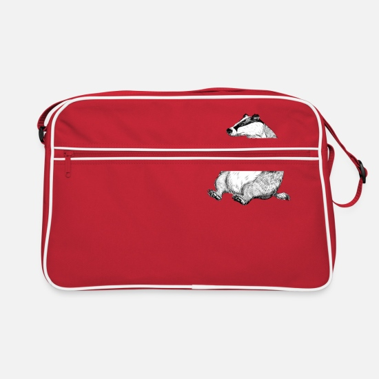 Badger Bags & Backpacks - Badger with Wine. - Retro Bag red/white