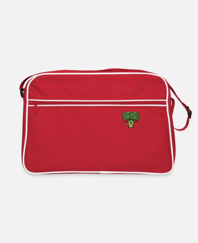 Broccoli Bags & Backpacks - Brocoli Power - Retro Bag red/white