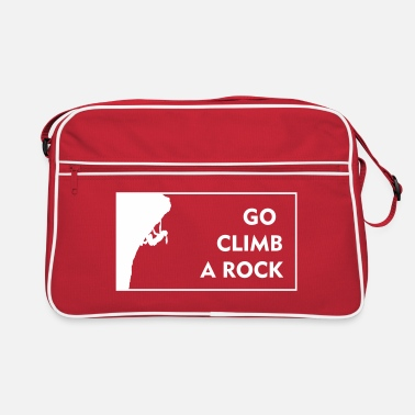 go climb a rock - woman - Retrotasche