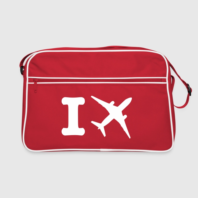 I fly - travel - Retro Bag