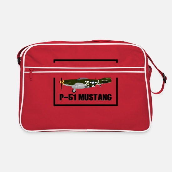 Fighter Bags & Backpacks - P-51 Airplane WWII Gift Gift Idea - Retro Bag red/white
