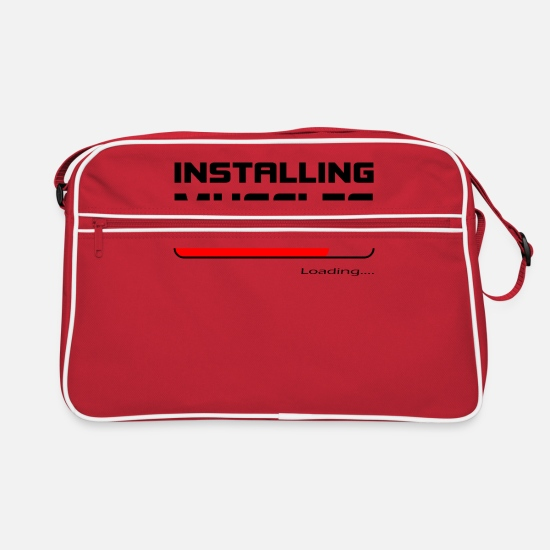 Birthday Bags & Backpacks - Installing Muscles Training Fitness Sports Gift - Retro Bag red/white