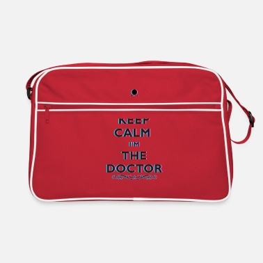 Anaglyph Keep Calm At The Doctor 3D Anaglyph Retro Doctor - Retro Bag