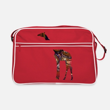 Giraffe in Fractal Chocolate Metal - Retro Bag
