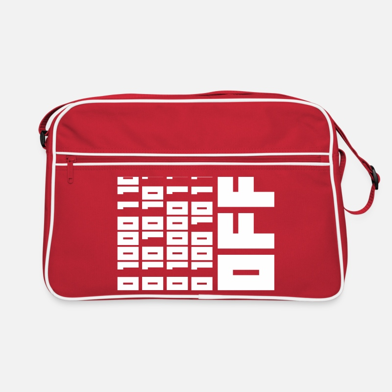Binary Bags & Backpacks - Fuck OFF - Binary Code - Retro Bag red/white