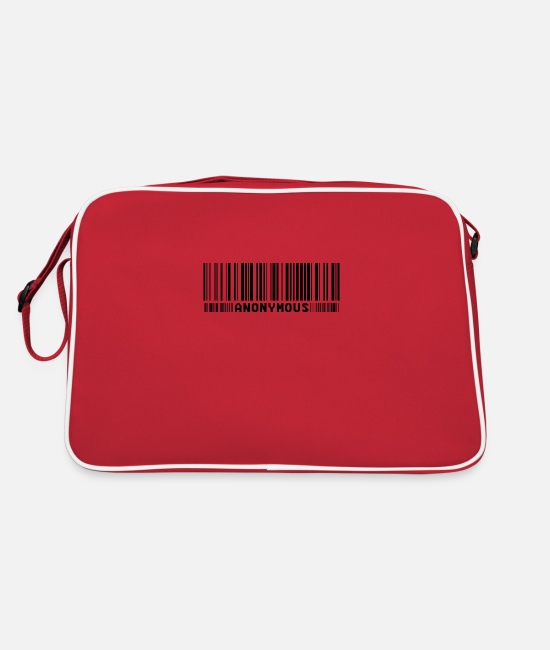 Obey Bags & Backpacks - Anonymous Barcode - We Are Legion - Shirt - Retro Bag red/white