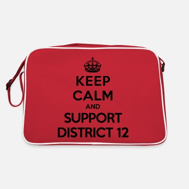 Hunger Keep calm and support District 12 (Hunger Games) - Sac vintage