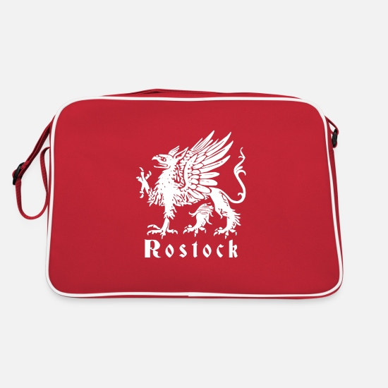 Distress Bags & Backpacks - Griffin Rostock classic - Retro Bag red/white