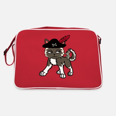 Buccaneer Funny cat pirate buccaneer with mouse - Retro Bag