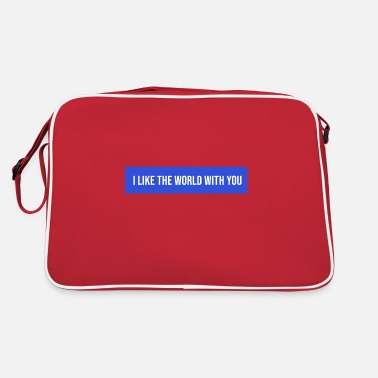 Cupid i like the world with you - Retro Bag
