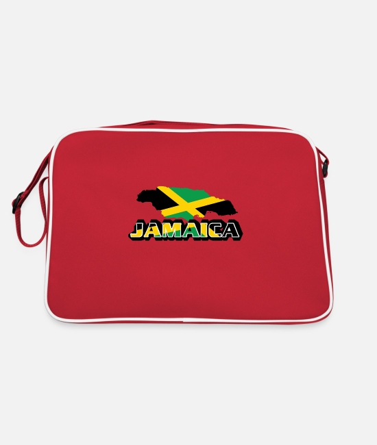 Rasta Bags & Backpacks - Jamaica Premium Country Country T-shirt - Retro Bag red/white