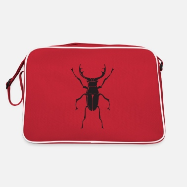 Fat Large stag beetle - insect - Retro Bag