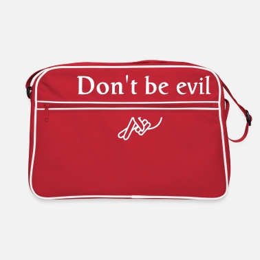 Nerd don't be evil ( search engine slogan) - Bolsa retro