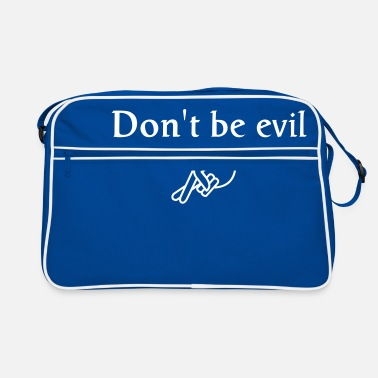 Geek don't be evil ( search engine slogan) - Retro Bag