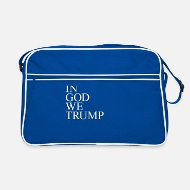 God In god we trump Bags & Backpacks - Retro Bag