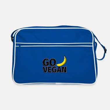 Vegetables Go Vegan Banana - Illustration - Retro Bag