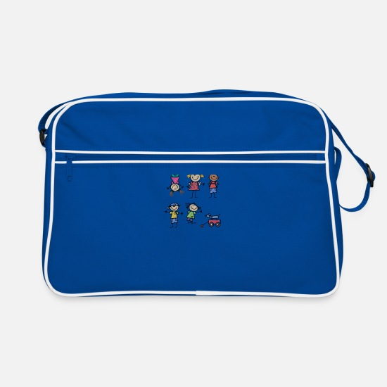 Kids Bags & Backpacks - Kids - Retro Bag blue/white