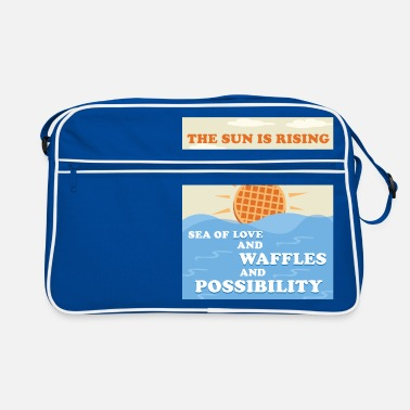 Sun THE SUN IS RISING OVER WAFFLES - Retro Bag