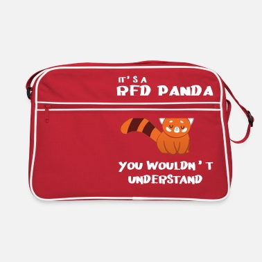 Red Red Panda - Cat Bear - Panda lover - Panda - Retro Bag