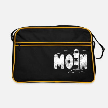 Taciturn Moin lighthouse flat german north german design - Retro Bag