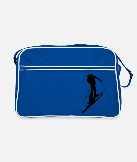 Skitour Bags & Backpacks - powder snow - Retro Bag blue/white