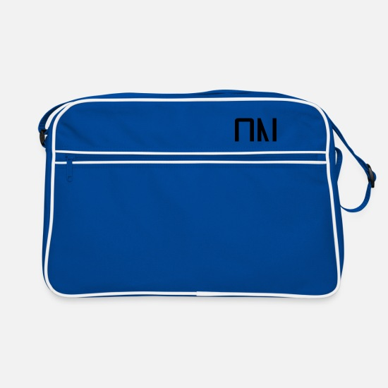 We Bags & Backpacks - WE - Retro Bag blue/white