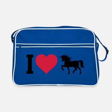 I Love I love unicorns - Sac Retro