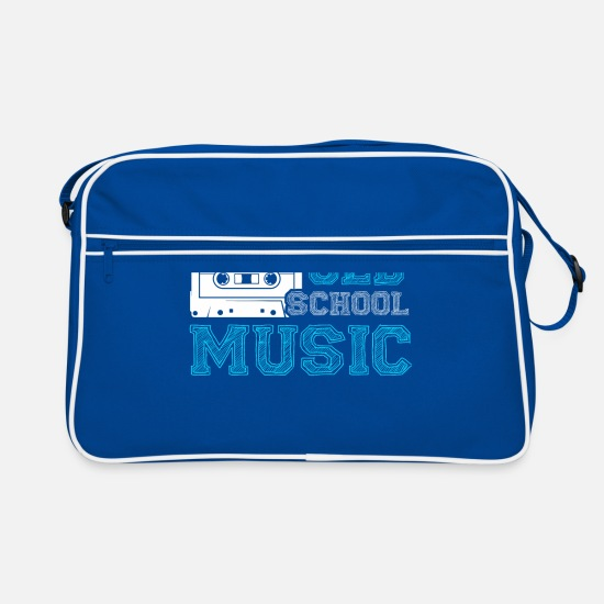 School Bags & Backpacks - Old School Music Cassette Mixtape Hip Hop - Retro Bag blue/white