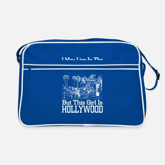Usa Bags & Backpacks - USA Girl Hollywood Midwest West Coast Gift - Retro Bag blue/white