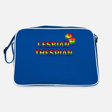 Stage Funny Drama Masks Lesbian Thespian graphic - Retro Bag