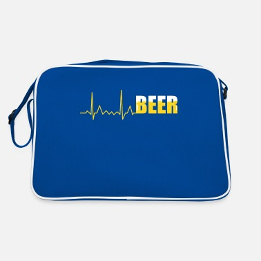 Pulse Beer Heartbeat ECG - I Love Beer - Retro Bag