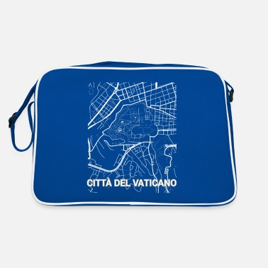Set25 Città del Vaticano city map and streets - Retro Bag