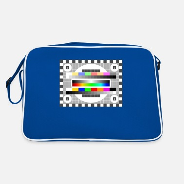 Mtv testbild Colors Pattern TV Retro stylish gradient fu - Retro Bag