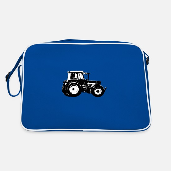 Cow Bags & Backpacks - Tractor tractor tractor tractor farmer agriculture - Retro Bag blue/white