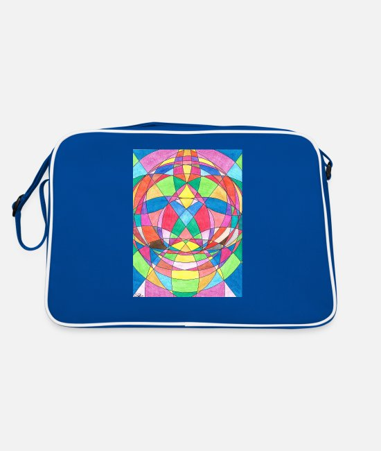 Bless You Bags & Backpacks - Chakra healing - Retro Bag blue/white