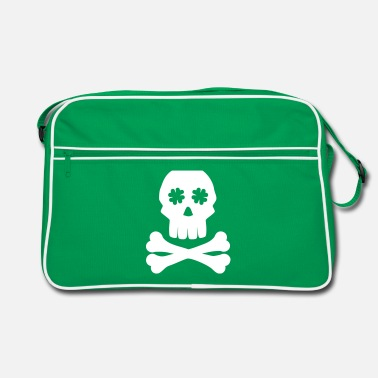 Shamrock Irish skull - Retrotasche