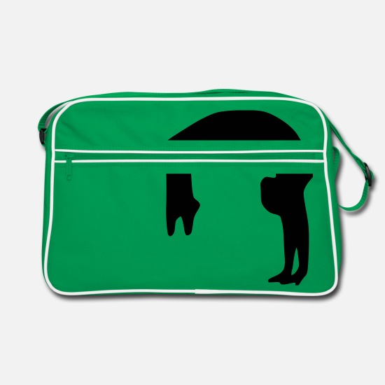 Backflip Bags & Backpacks - Backflip - Retro Bag kelly green/white