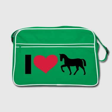 I LOVE Horse / Horses - eushirt.co - Retro Tasche