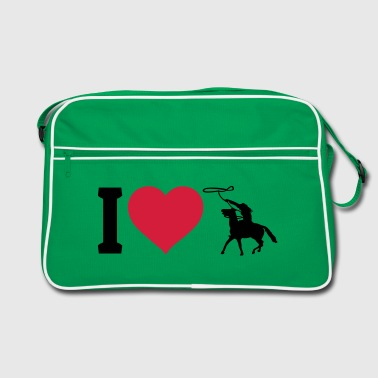 I love western riding - Retro Bag