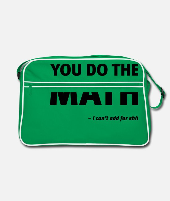 Quote Bags & Backpacks - Math add - Retro Bag kelly green/white