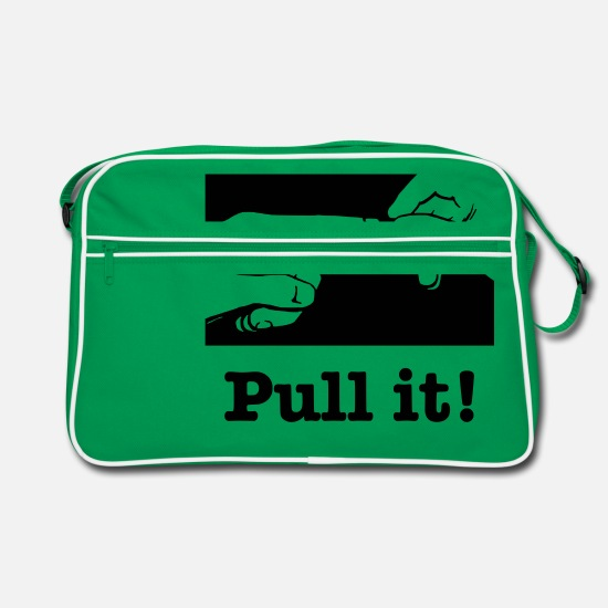 Finger Bags & Backpacks - Pull - Retro Bag kelly green/white