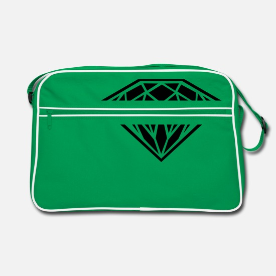 Diamond Bags & Backpacks - diamond - Retro Bag kelly green/white