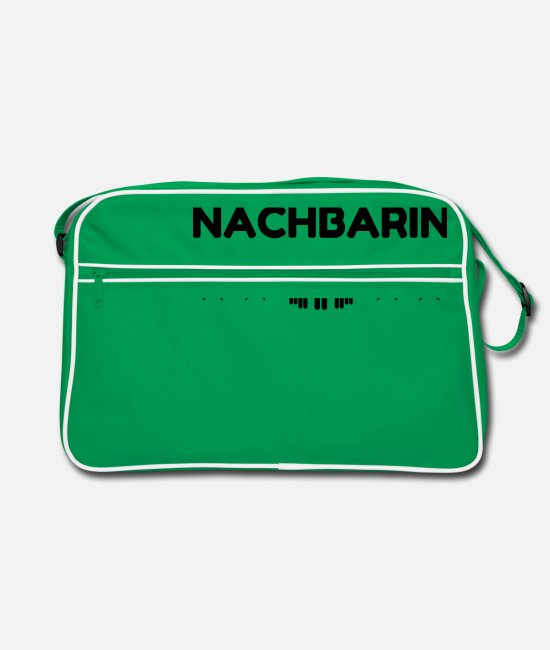 Social Bags & Backpacks - Neighbour Neighborhood Nachbar Voisin Fête Party - Retro Bag kelly green/white