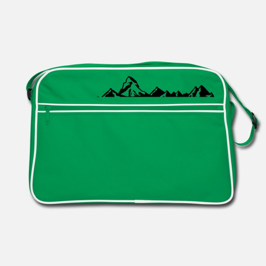 Mountains Bags & Backpacks - switzerland - Switzerland - suisse - svizzera - Retro Bag kelly green/white