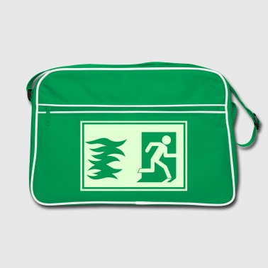 emergency exit / fire alarm sign - Retro Bag