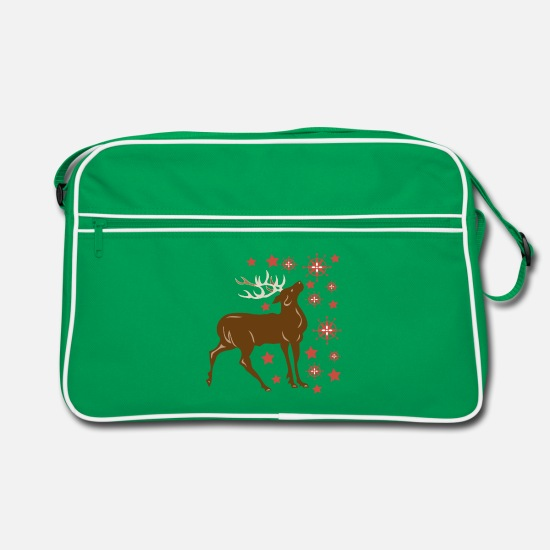 Stag Bags & Backpacks - Weihnachtshirsch - Retro Bag kelly green/white