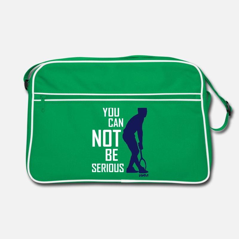 Citations Sacs et sacs à dos - you cant be serious McEnroe by wam - Sac vintage vert/blanc