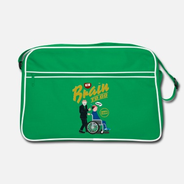 Brain to go - 100% Bio - Retro Tasche