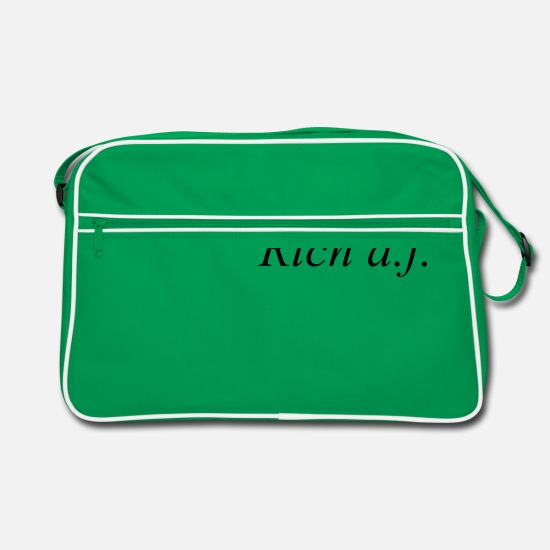 Gift Idea Bags & Backpacks - Rich af - Retro Bag kelly green/white